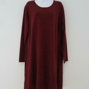 Eileen Fisher Long Sleeve Stretch Dress XL